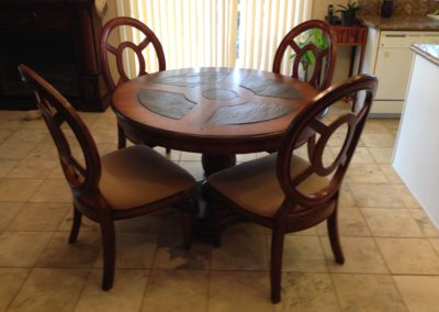 Mather, CA, Grafton, Dining room table-Before